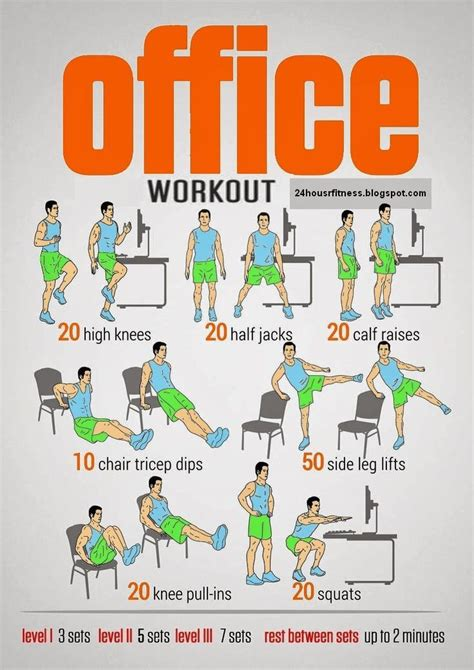 office workouts ideas  pinterest quick