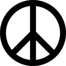 cartoon peace sign cartoon heart
