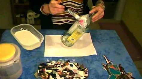 tutorial decoupage su bottiglia vetro riciclo creativo decoupage bottiglia di vetro youtube