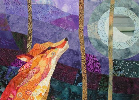 Quilted Fox by Orange Fox Purple Quilt Fabric By Ccollier On Etsy