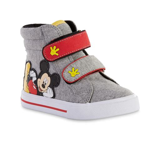 toddler mickey mouse sneakers disney toddler boys mickey mouse gray high top sneaker