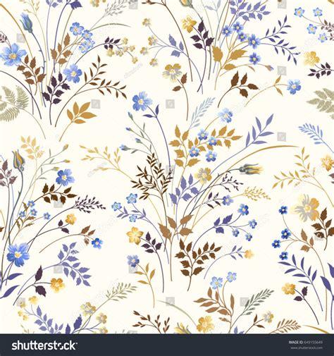 seamless pattern shutterstock seamless floral pattern blue flowers stock vector