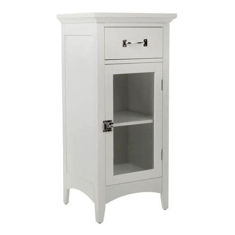 Home Depot Bathroom Storage Cabinets Home Fashions Wilshire 15 In W X 32 In H X 13 In D Bathroom Linen Storage Floor