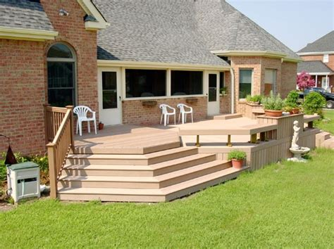 deck to patio transition deck design ideas needs transition from deck to grass