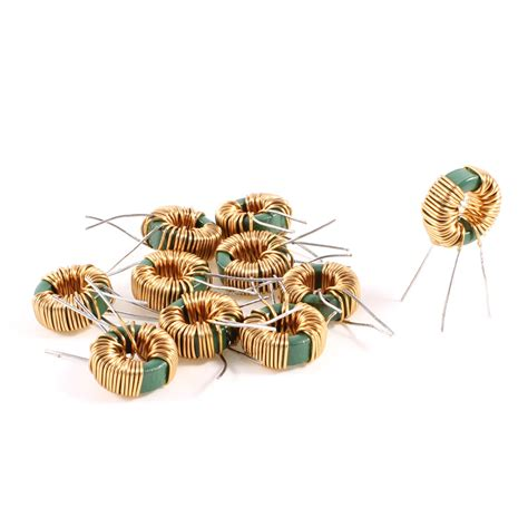 brass inductor uxcell 10 pcs toroid common mode inductor choke 2mh 30mohm 2a coil us301