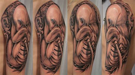 bionic tattoos 3d tattoos biomechanical tattoos designs