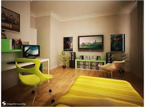 Yellow Bedroom Chair Design Ideas Bedroom Design Modern Minimalist Boy Room Decor With Yellow Roller Chair And Cool Tv And
