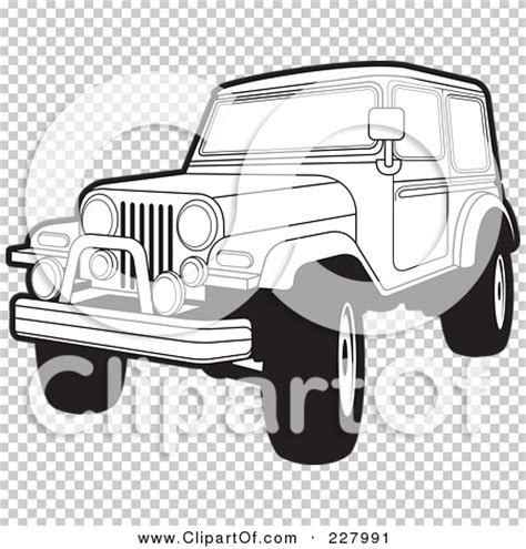 jeep illustration royalty free rf clipart illustration of a coloring page