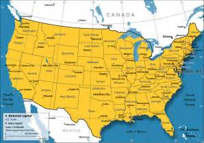 Usa Map And Capitals by United States Map Nations Online Project