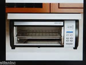 Cabinet Mount Toaster Oven Black And Decker Toaster Oven New Ebay