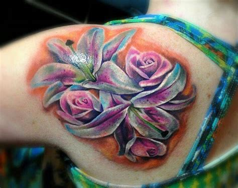 lilies and roses tattoos top 110 amazing tattoozza