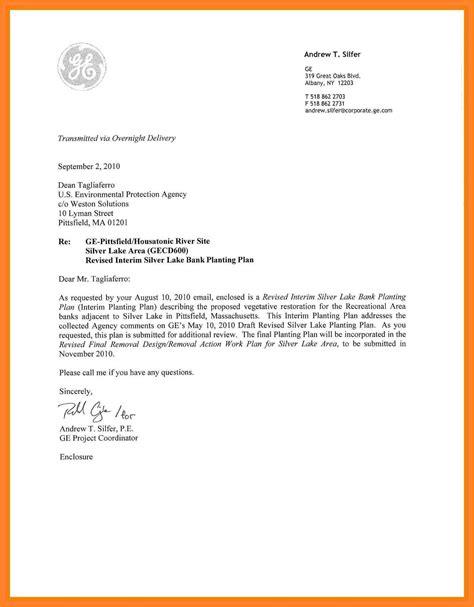 valid business letter format enclosures