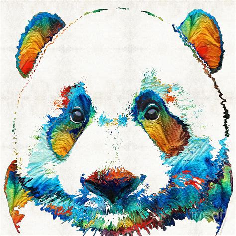 imagenes de osos hipster colorful panda bear art by sharon cummings painting by