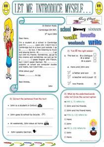 Let Me Introduce Myself Essay by 35 Free Esl Myself Worksheets