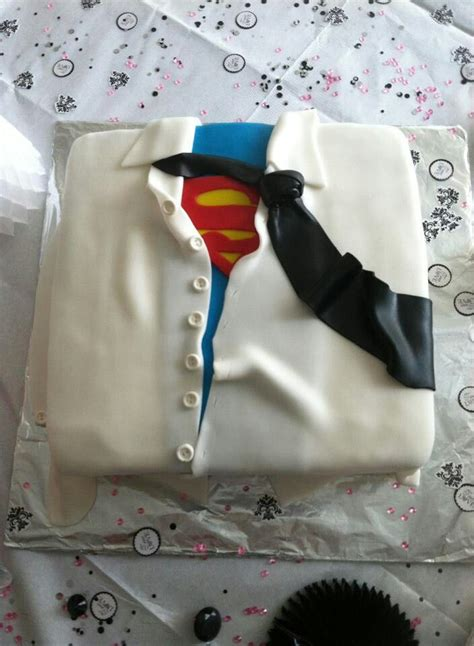 superman groom s cake