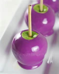 how to make purple candy apples rose bakes