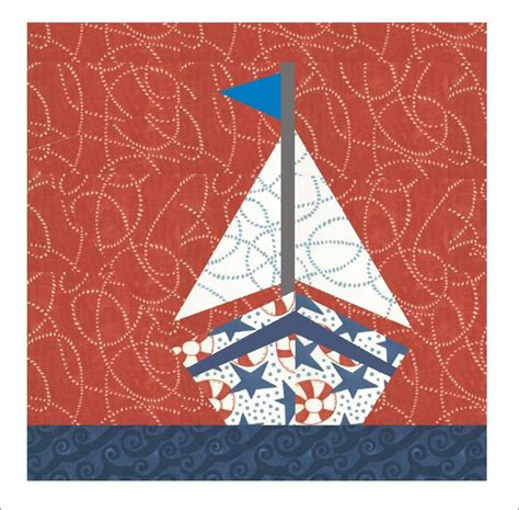 Quilting Paper Piecing Patterns by Sailboat Quilt Paper Pieced Pattern By 3patch Craftsy