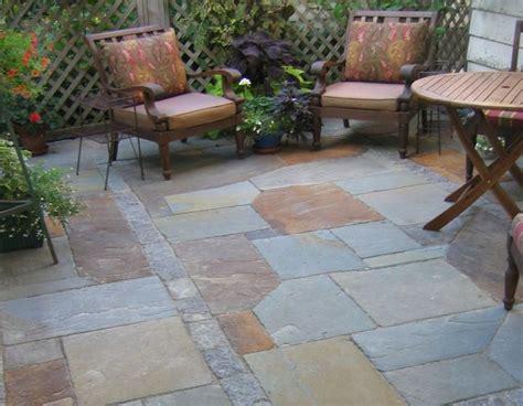 Blue Flagstone Patio Design Ideas For Backyard Ideas With Blue Patio Designs