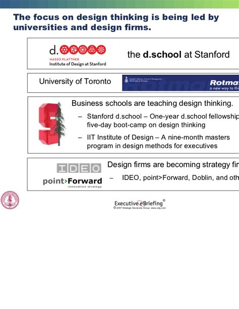 design thinking university of toronto strategic innovation sdg stanford university