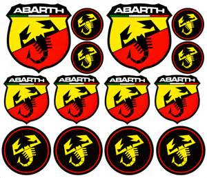 Abarth Stickers Abarth Sticker Decal Emblem Logo Badge Aufkleber