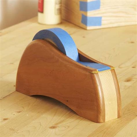 Bedroom Organizers tape dispenser woodworking plan from wood magazine