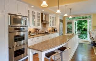 Kitchen with island and only one wall galley kitchen long island