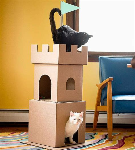 Mainan Diy Stiker Rumah Play House Customization 9 139 Make A Cardboard Cat Castle Chicago Cardboard Castle And Boxes