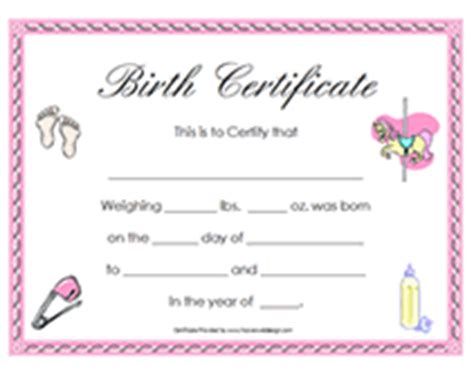 baby birth certificate template baby certificate pictures to pin on pinsdaddy