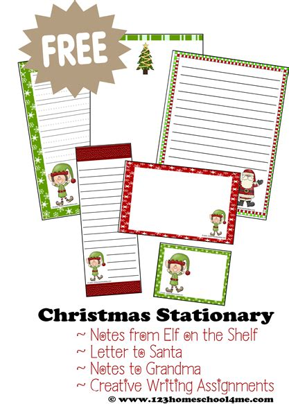 writing papers elves and elf on the shelf on pinterest free printable christmas stationery