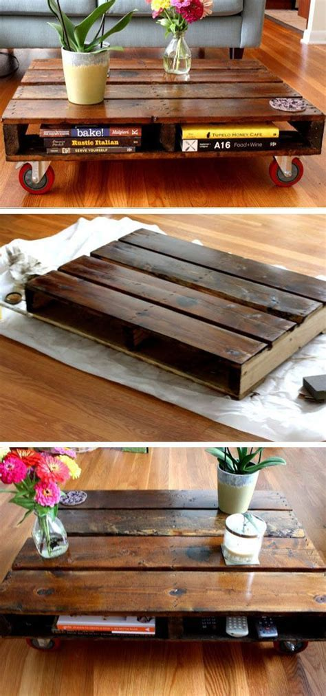 diy pallet coffee table diy home decorating on a budget