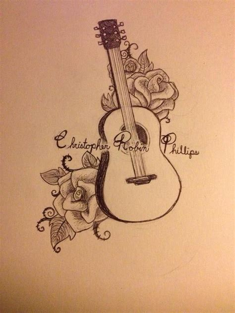 rose tattoo song guitar and roses tattoos guitars