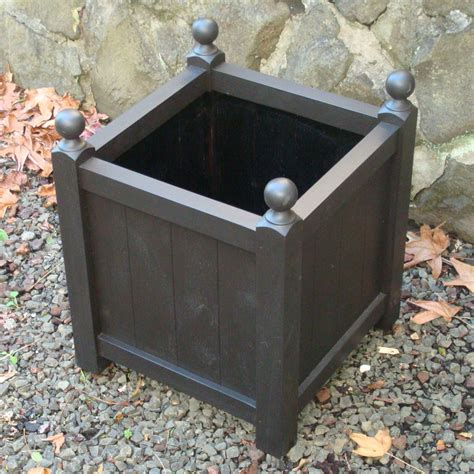 Black Wooden Planter Boxes by Planters Glamorous Black Wooden Planter Boxes Large Black