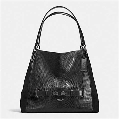 Coach F57510 Tote Snake Embossed Patchwork coach f36234 shoulder bag in embossed leather