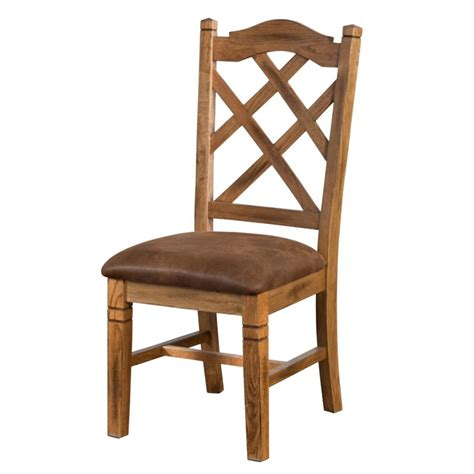 Rustic Oak Dining Chairs Designs Sedona Cross Back Dining Chair In Rustic Oak 1415ro