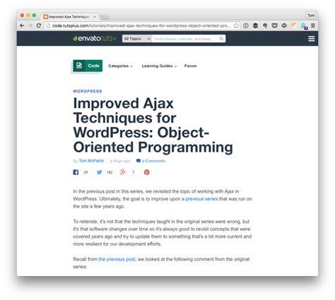 tutorial ajax wordpress improved ajax in wordpress object oriented programming 67nj