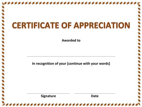 microsoft word certificate of appreciation template microsoft and open office templates