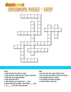 easy crossword puzzles with hints freebie free bee worksheets fun on pinterest
