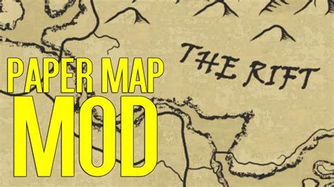 a quality world map a quality world map paper skyrim special edition mod