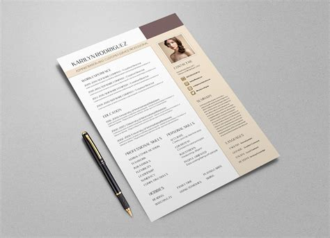 resume psd template rar free psd cv template for front desk officers customer service professionals resume