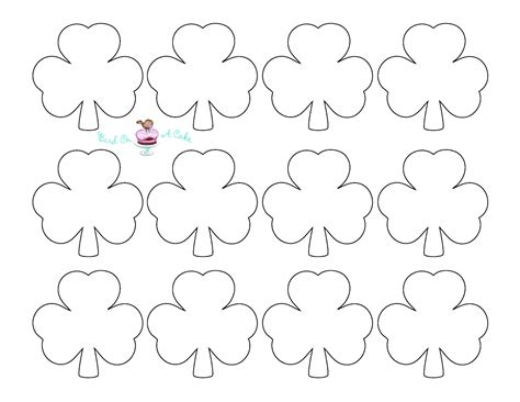 Shamrock Templates bird on a cake st s day shamrock cupcake toppers