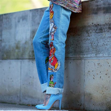decorating with denim embellished jeans decorate your denim closet denimology