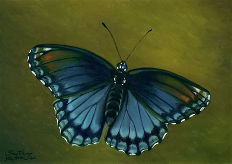 painting butterfly spotted purple butterfly painting by faith te