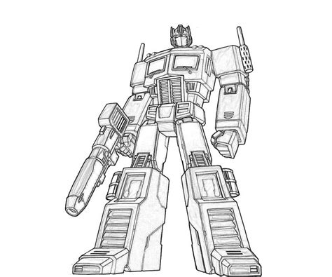 Optimus Prime Coloring Page by New Optimus Prime Coloring Pages Coloring Pages