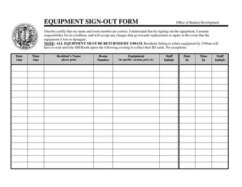 sign out sheet template plainresume co