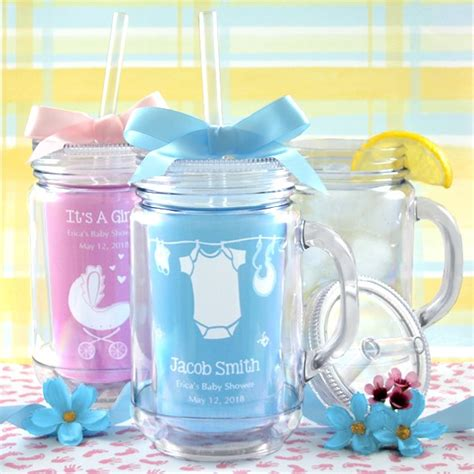 Jars For Baby Shower by Baby Shower Jar Tumbler Personalized Baby Shower