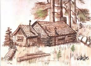 Log Cabin Drawings by Pencil Drawing Of Log Cabin Joy Studio Design Gallery