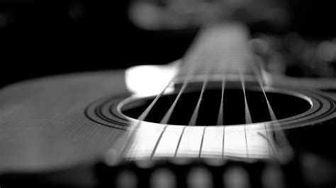 guitar wallpaper black and white hd acoustic guitar wallpaper high resolution wallpapersafari