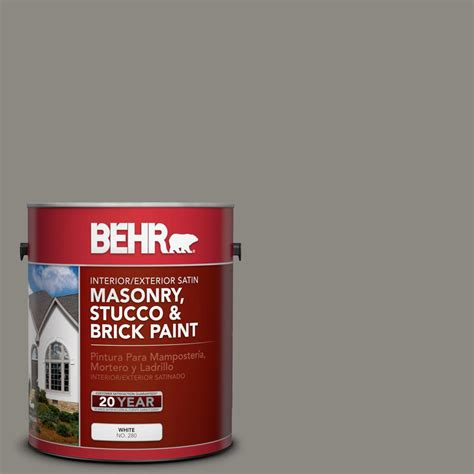 1 Gal Satin 1 Part Epoxy Acrylic Concrete And Garage Floor Paint - behr 1 gal 65001 gray granite grip interior exterior
