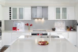 White Cabinet Kitchen Designs Glossy White Kitchen Design Trend Digsdigs