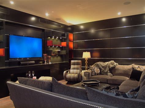 Home Theater Januari w penthouse condo contemporary home theater by jan niels